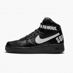 Nike Air Force 1 High Supreme World Famous Black 698696 010 Unisex Casual Shoes