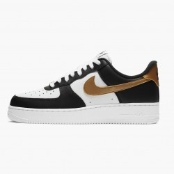 Nike Air Force 1 Low Black White Metallic Gold CZ9189 001 Unisex Casual Shoes