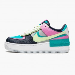 Nike Air Force 1 Shadow Barely Volt Oracle Aqua CK3172 001 Womens Casual Shoes