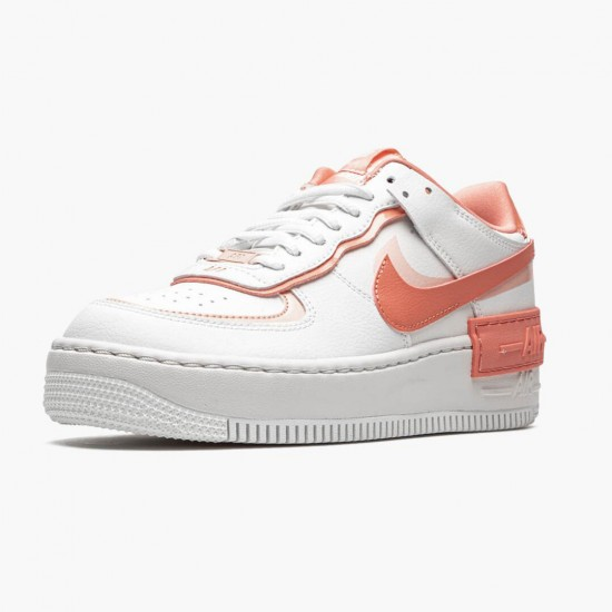 Nike Air Force 1 Shadow White Coral Pink CJ1641 101 Unisex Casual Shoes