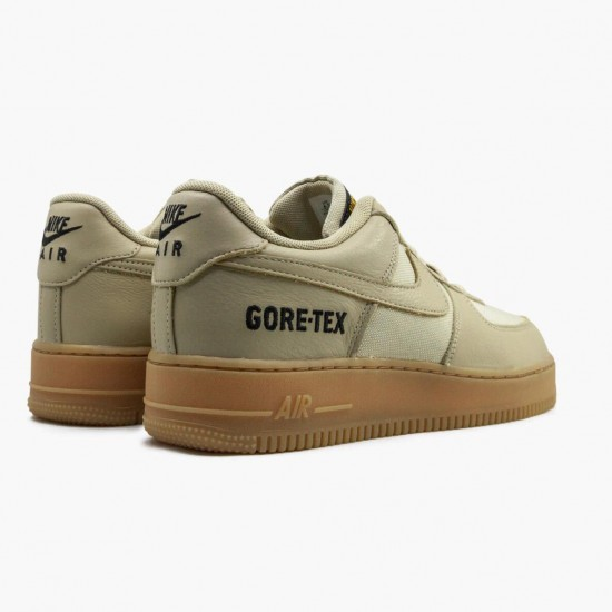 Nike Air Force One Low Gore-Tex Team Gold Khaki CK2630 700 Unisex Casual Shoes
