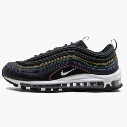 Nike Air Max 97 Black Multi Stitch CK0738 001 Unisex Running Shoes
