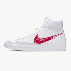 Nike Blazer Mid 77 Sketch White Red CW7580 100 Unisex Casual Shoes
