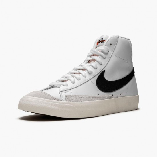 Nike Blazer Mid 77 Vintage White Black BQ6806 100 Unisex Casual Shoes