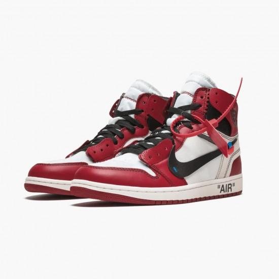 Air Jordan 1 Retro High Off White Chicago AA3834 101 Mens Casual Shoes