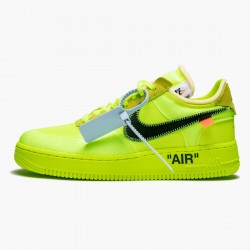 Nike Air Force 1 Low Off White Volt AO4606 700 Unisex Casual Shoes