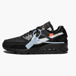 Nike Air Max 90 OFF WHITE Black AA7293 001 Unisex Casual Shoes