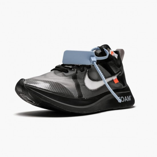 Nike Zoom Fly Off White Black Silver AJ4588 001 Unisex Casual Shoes
