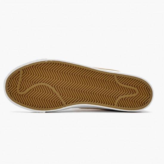 Nike SB Zoom Blazer Mid White Celestial Gold CJ6983 102 Unisex Casual Shoes