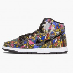 Nike Dunk SB High Cncpts Stained Glass 313171 606 Unisex Casual Shoes