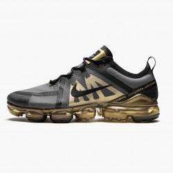 Nike Air VaporMax 2019 Black Metallic Gold AR6631 002 Unisex Running Shoes