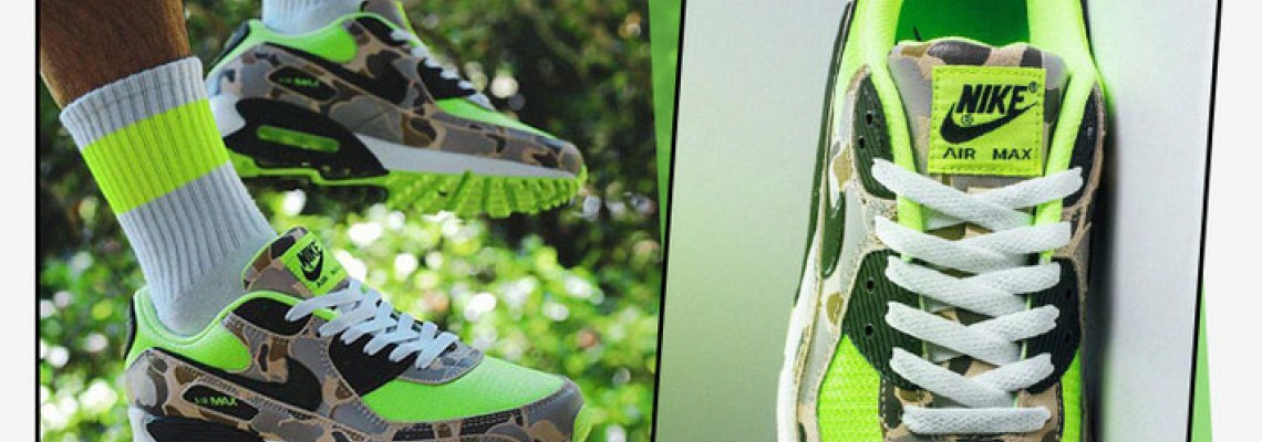 The Max Air 90 cushioning configuration is matched with a foam midsole, which is light and comfortable.