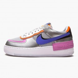 Wmns Air Force 1 Shadow Metallic Silver Running Shoes CW6030-001